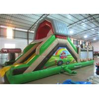 China Hot sale inflatable farm themed amusement park with standard slide on one side inflatable multiplay  fun city on sale