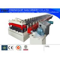 Galvanized Steel Metal Deck Roll Forming Machine 50Hz Motor 15KW 3 Phase