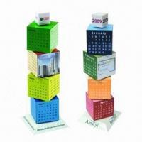 Cheap Promotional Building Blocks Calendars, Customized Colors are Accepted for sale