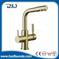 Buy cheap Brass Two Spout out Double Handles Water Filter Purifier 3 Ways Drinking Kitchen from wholesalers