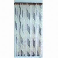 China Handmade Door Curtain with 30 Lines Favorable Material, Made of Natural Bamboo Beads on sale
