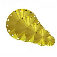 Buy cheap JIS 5K To 30K Blind Cast Steel Flanges With Yellow Paint , Size 10A To 1500A from wholesalers