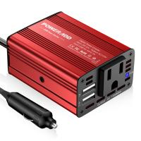 Cheap Portable 150 Watt Red Color Auto Power Inverter With One Year Warranty for sale