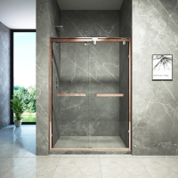 Buy cheap Frameless Hinged Bifold Toughened Glass Shower Screen from wholesalers