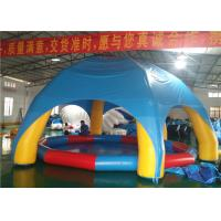 China Children Above Ground Swimming Pools Portable EN14960 With Shade Tent on sale
