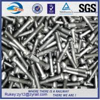 Buy cheap Railway high tensile oval neck black oxide fish bolts 8.8 with nut from wholesalers