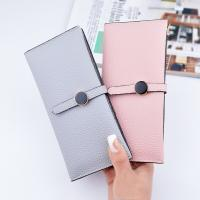 Cheap Female Foldable Leather Clutch Wallet Large Capacity For Money Coin Card Holders for sale