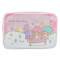 Quality 0.25mm Transparent Zipper Cosmetic Bags Cartoon Character Pattern For Travelling wholesale