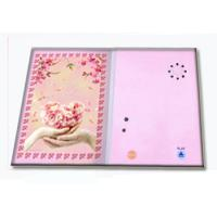 Quality Pre - recorded Musical Greetings Cards Recordable Greeting Card with customized music wholesale