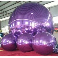 Cheap Decorative Inflatable Advertising Mirror Ball For Stage / Fashion Show for sale