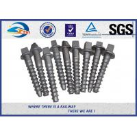 Quality Railway Track Sleeper Screw Spike with Slotting Head plain black galvanized wholesale