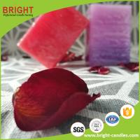 China Square Pillar Candle Different Color Red Color And Purple Color With Layer Effect on sale