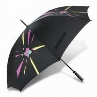 Cheap London 2012 Golf Umbrella with Fiberglass Frame, Made of Recycled Polyester for sale