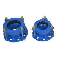 Cheap Epoxy Powder Coating Of 150-200 Microns Flexible Hdpe Pipe Coupling Ductile Iron Flange Adaptor for sale