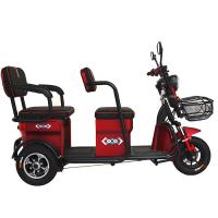 China Customized Electric Cargo Tricycle Closed Cabin ECO Friendly Double Chains on sale