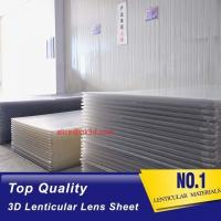 Cheap 3D Lenticular Sheet materials 70LPI PET 0.9MM 60X80CM for 3d lenticular printing by injekt print and UV offset print for sale