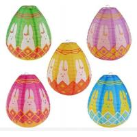 China Hand made Easter Egg Paper Lantern Hanging Party Decoration Easter Party Holiday on sale