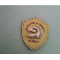 Cheap 3D Metal and PU Custom Clothing Labels , Eco Friendly plating sewing labels for sale