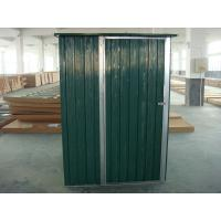 Cheap Green color metal shed with single swing door,8x3.7ft,0.3mm color board for sale