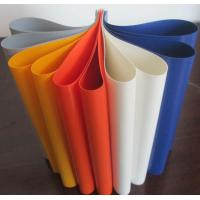 Cheap Colorful PVC Coated Tarpaulin Polyester Fabric In Roll 1000D X 1000D 20X20 650 Gsm for sale