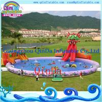 China Inflatable Aqua Park , Above Ground Portable Water Park Infltable Slide with Pool on sale