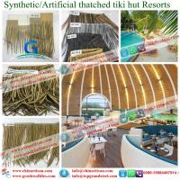 Cheap Maldives ocean tourism beach resort using fireproof synthetic thatch as roofing for sale