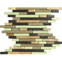 China Strip Mosaic Tile with Glass & Stone (ME037) on sale