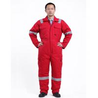Cheap Anti Fire Safety Winter Warm Coverall Freezer Suits Flame Retardant Overalls for sale