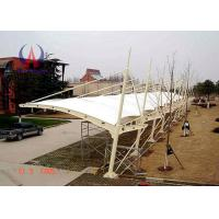 Cheap Temporary Car Parking Tensile Structure Parking Lot Shade Awnings With Membrane Sail wholesale