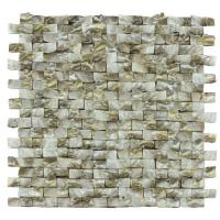 China Golden Diamond Shell Mosaic Tile For Bathroom Wall Panels 3D Glossy Surface on sale