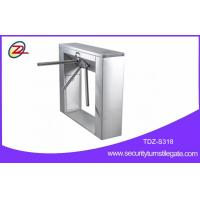 Stainless steel pedestrian barrier , semi automatic tripod turnstile with mifare reader