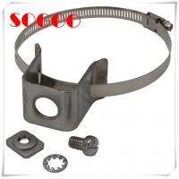 Cheap Double Hole Type Coax Cable Standoff Brackets / Standoff Clamp Sus304 Material for sale