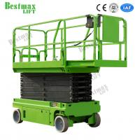 Cheap 12m Automotive Self Propelled Scissor Lift Hydraulic Man Lift Platform 230Kg for sale