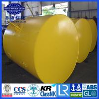 Cheap Cylinder steel type Mooring Buoy, Yellow Painted steel structure Mooring Buoy for sale