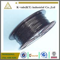 Cheap BLACK Vinyl Coated Wire Rope Cable 1/16 - 3/32 , 7x7 for sale