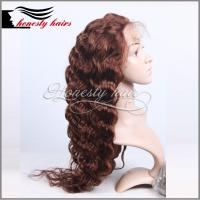 Cheap Full lace wig, silk top 400% DW 100% remy hair, Front lace/Machined wig can be customized. for sale