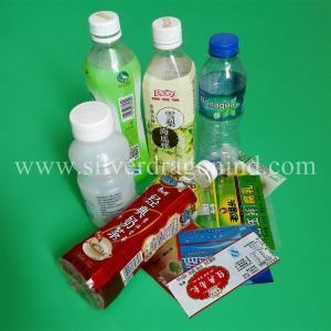 Cheap PVC shrink bands for bottled water, beverage, drinks,juice and milk labels for sale