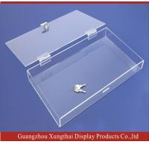 China Lockable Acrylic Box,Clear Acrylic display Box,Acrylic Box, Perspex display boxes on sale