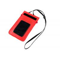 Buy cheap Nylon / TPU Small Red WaterProof Dry Bags for Protect Mobile Phone when diving from Wholesalers