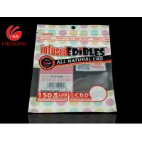 Cheap Custom Printing Three Side Seal Bag with Zipper / Food Packaging Zipper Pouch for sale