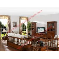 Cheap Solid Wooden Carving Frame with Fabric Upholstery Sofa Set in Living Room Set for sale