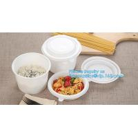Cheap Custom printed disposable PLA hot soup bowls, kraft paper soup cup,Eco-Friendly disposable tableware sugarcane pulp bowl for sale