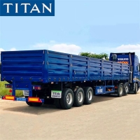 Cheap Grain transport trailer - sidewall semi trailer with small door for sale