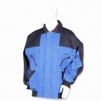Cheap Flame-retardant Work Jacket, Made of 65% Polyester and 35% Cotton for sale