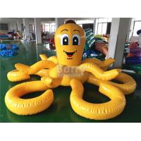Cheap Customized Yellow Octopus Inflatable Pool Floats For Aqua Water Park for sale
