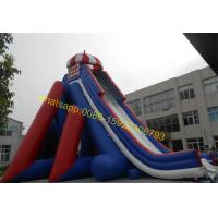 Cheap giant blue and red colours water slide for sale