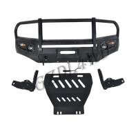 Cheap Nissan Navara Np300 2015 2016 Front Bumper Guard With Skid Plate Custom Logo for sale