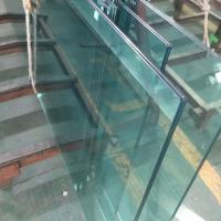 Quality SGCC standard Clear tempered 13.52mm PVB film laminated safety framelsess glass wholesale