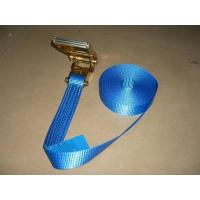 Cheap Blue Label Self Tightening Ratchet Straps , Ratchet Straps With Safety Hooks for sale