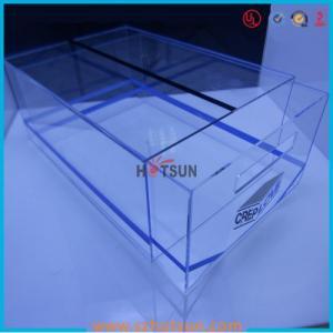 Cheap high quality plexiglass shoe box for package,wholesale custom clear acrylic shoe box hupbox sneaker display box for sale